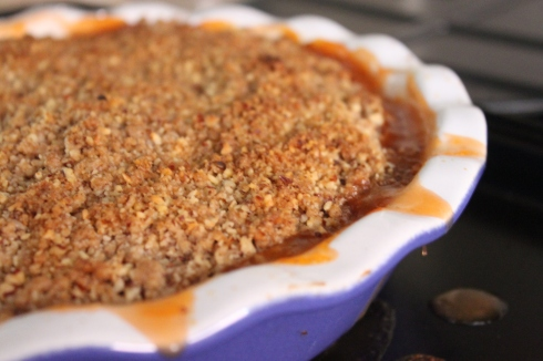 Tomato-Peach-Plum Crisp from Baking Family