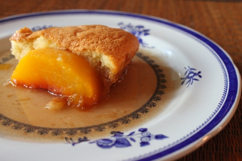 Peach Pan Cake from Baking Family