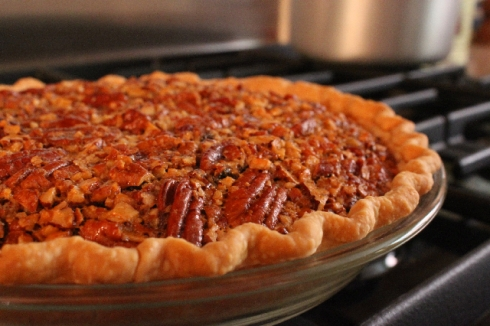 Brown Sugar Pecan Pie all done