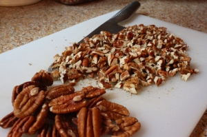 Chopped and whole pecans