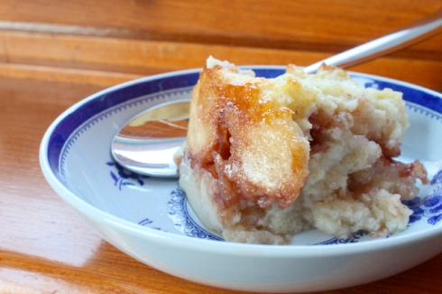 Jammy Bread Pudding in a bowl